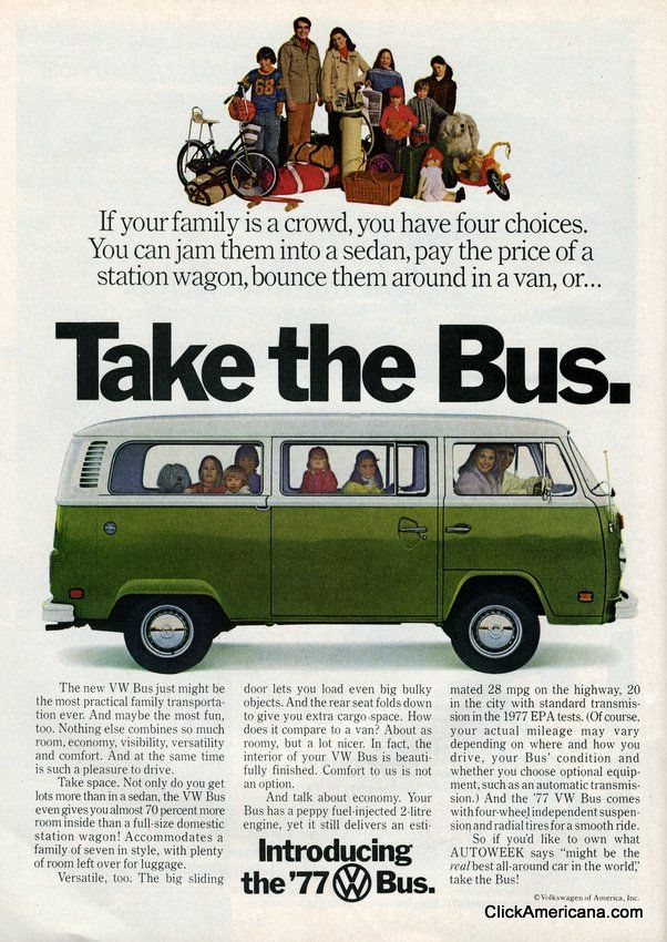 Share Tweet + 1 Mail Take the Bus If your family is a crowd, you have four choices. You can jam them into a sedan, pay ...
