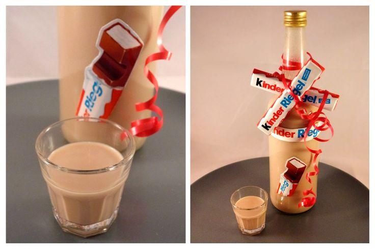 Leckerer, süßer und süffiger Kinderschokolade Schnaps mit Vodka