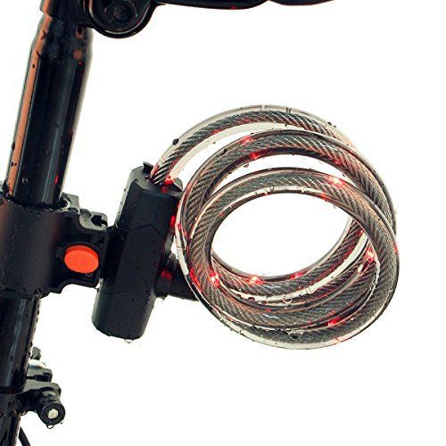 Product review for GO PAL Bicycle Cable Lock,5-digit combination lock core,64 Pieces Steel Wire,Basic Self Coiling,Bike Lock,Security&Portable - This bicycle cable lock might save money for a bike! GO PAL Bicycle Lock L1 +[Shear, guard against theft]: 64 shares of the high temperature wire made of hardened steel wire, can withstand the shear force more than common U lock!Protect your bike stolen! +[Without a key, but the lower the rate...