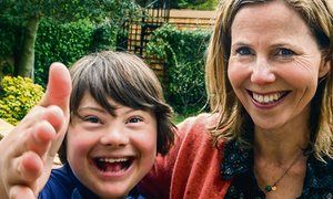 Sally Phillips and her son Olly, 12.