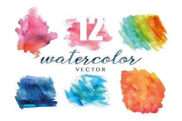 12 Watercolor Textures By Aaqib Shah On Creativemarket
