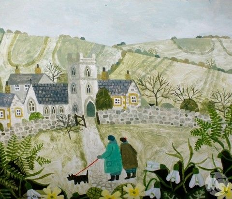 Still Life and Landscape Pictures by Vanessa Bowman at The Jerram Gallery, Sherborne, Dorset. Contemporary British pictures and sculpture