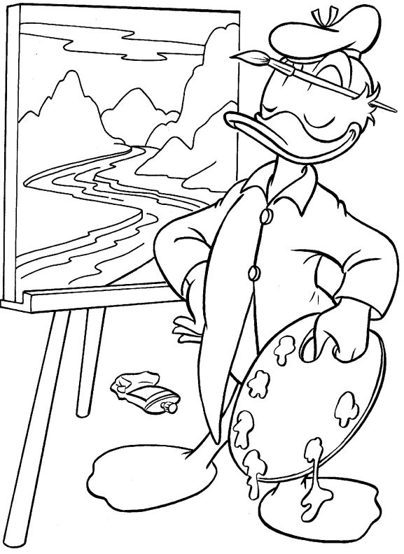 Luxury Painting Coloring Pages 74 FREE printable Disney coloring