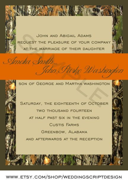 best images about camo wedding invites on   camo, invitation samples