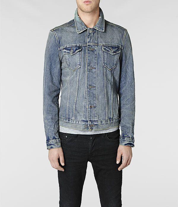 Mens Kiku Denim Jacket (Indigo) | ALLSAINTS.com