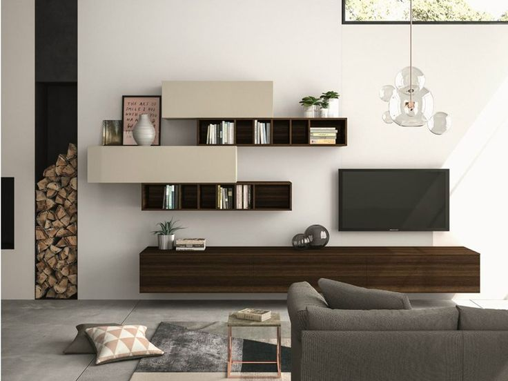 Sectional storage wall SLIM 110 Slim Collection by Dall'Agnese | design Imago Design, Massimo Rosa