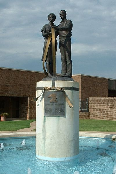"Memorial of the 1986 post office incident in Edmond, Oklahoma. Where the term "" going postal"" originated."