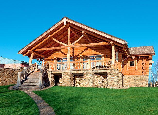 Современный форпост | Деревянные дома ручной рубки | Журнал «Деревянные дома»