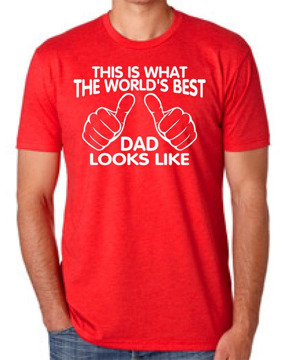 WORLD'S BEST DAD This is what the world's best dad looks like mens T-shirt shirt tshirt gift Father's Day gift Canada