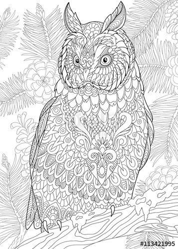 1185 best ✐Ö Adult Colouring~Owls~Birds ~Zentangles Ö✐ images on ...