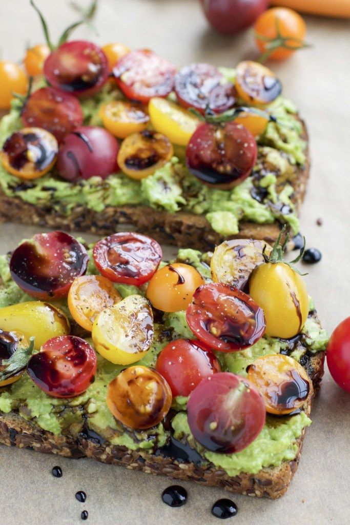 Avocado toast is my favorite healthy breakfast. Here are 4 examples of loaded avocado toast that will blow your mind + 15 variations! Need an easy back to school breakfast? Avocado toast is great for kids too, they can help pick the toppings!