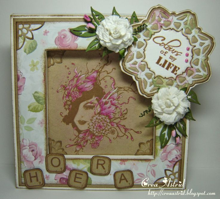 Floral Lady clear stamp 6410/0076