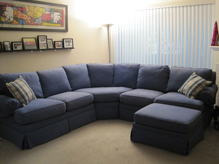 Build Your Own Sectional Sofa Curved Sectional Fabric Blue