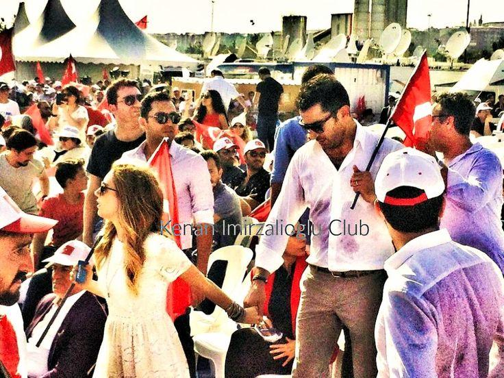 #kenanimirzalioglu and  #sinemkobal at #yenikapi rally (7/8/2016)