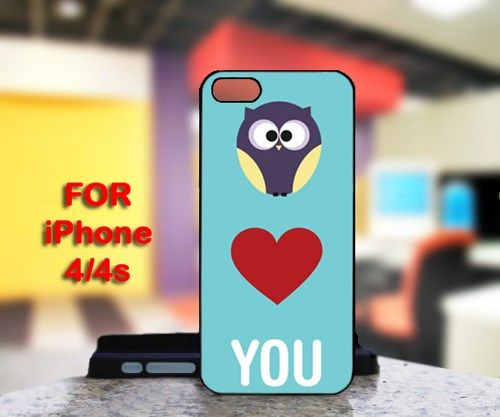 Owl Love You For IPhone 4 or 4S Black Case Cover
