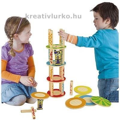 Bolondtorony társasjáték www.kreativlurko.hu