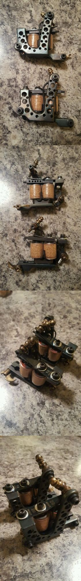 Tattoo Machines and Parts: Custom Tattoo Machine Set With Handmade 1 Coils 8 Wrap Liner And Shader BUY IT NOW ONLY: $275.0