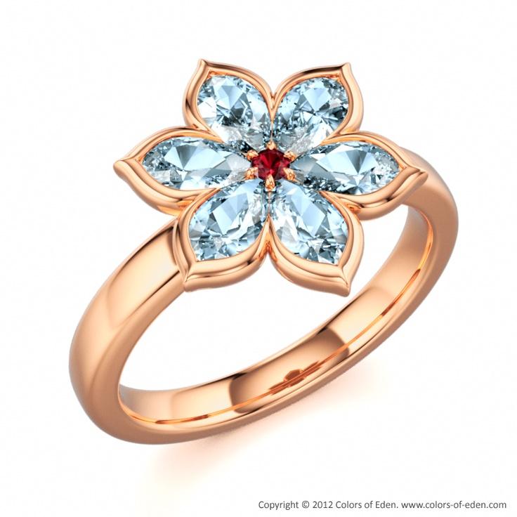 Aquamarine Ring #Aquamarine #engagement #ring