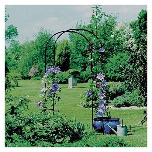 Garden Arbor Outdoor Wedding Black Gate Patio Decor Steel Pergola #Unbranded