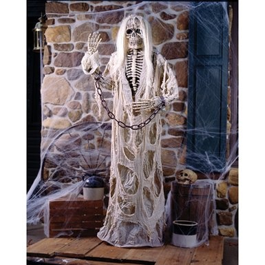6ft gruesome greeter shackled skeleton halloween prop b515 at amazon 6295 on sale scary halloween propshalloween