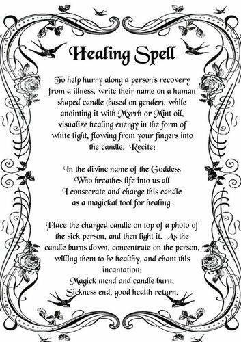 Healing Spell. Remember you don't have to follow these things exactly, make it…