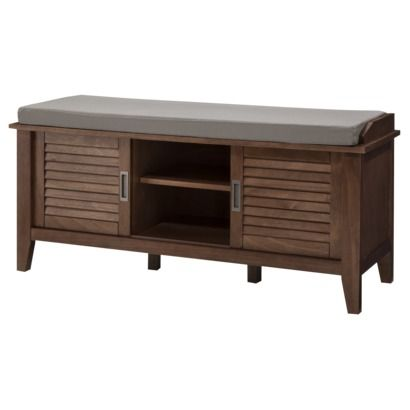 Threshold Storage Bench With Slatted Doors Home