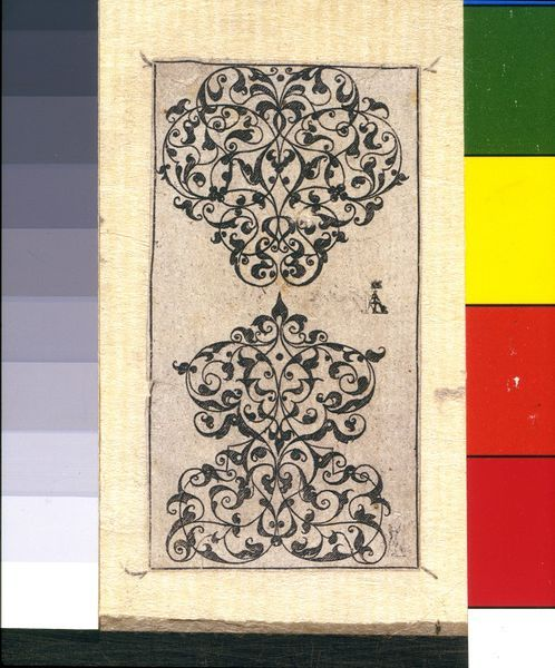 Design for Moresque ornament Thomas Geminus London 1548 Museum no. 19012 In 1548 Thomas Geminus published the first pattern-book to appear in England, entitled Morysse and Damashin renewed and encreased Very profitable for Goldsmythes and Embroiderars.