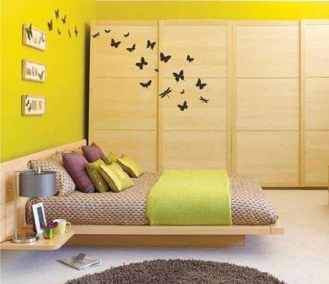 Colori per camera da letto piccola - Camera da letto dipinta di verde