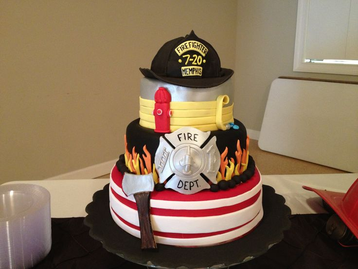 Firefighter grooms cake i made!!!  Mallory Gray 50 Cakes of Gray(facebook and instagram) m50cakesofgray@yahoo.com Memphis TN