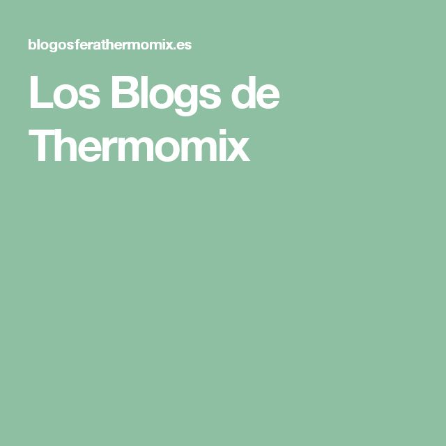 Los Blogs de Thermomix