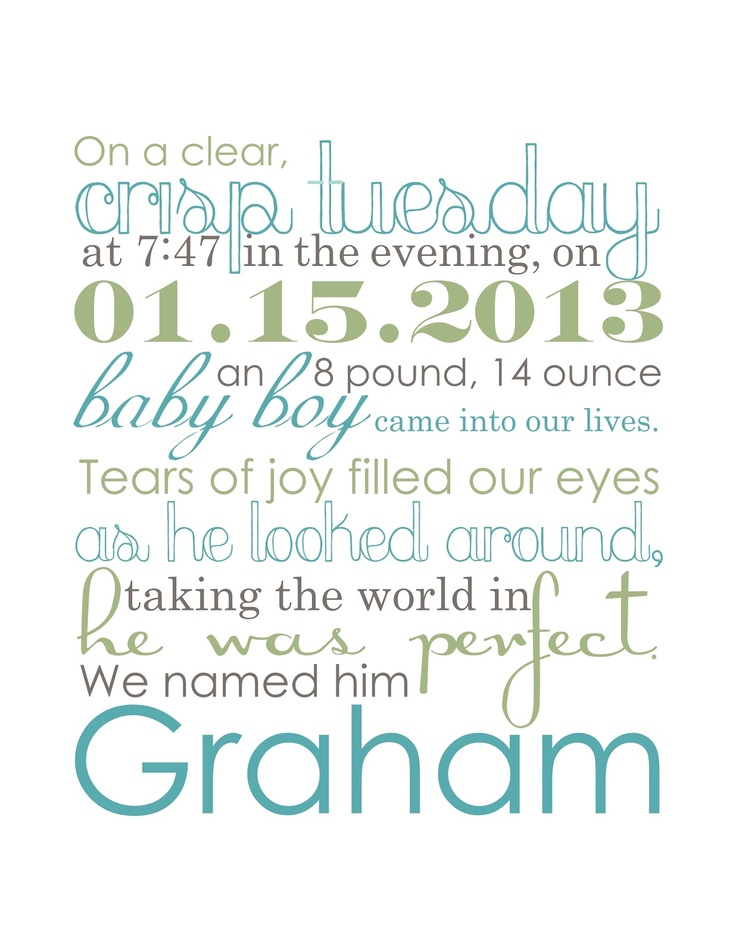 The 25 best Birth announcement wording ideas – Baby Announcements Quotes