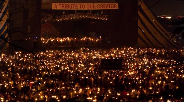 Creation festival candle lighting (wow)