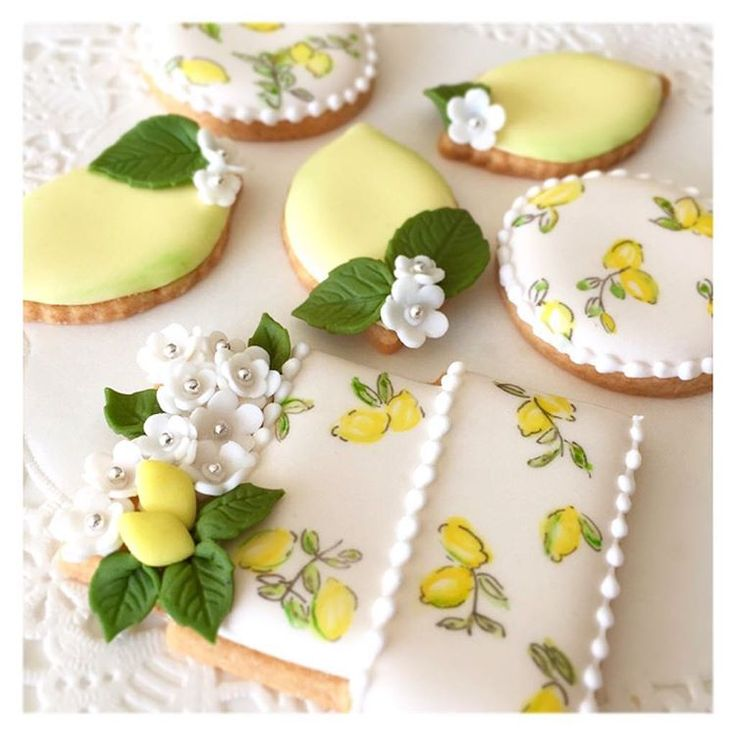 beautiful lemon cookies