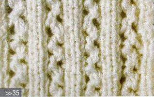 Patrón #1463:Punto Calado a Dos Agujas | CTejidas [Crochet y Dos Agujas]