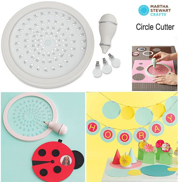 Martha Stewart Circle Cutter / 1set      Cut perfect circles from diameter 25mm - 140mm,     with 1/16 in (1.58mm) increments
