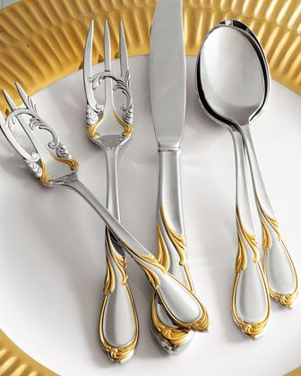 20-Piece+Cache+Stainless+Steel+Flatware+Service+by+Yamazaki+Tableware+at+Neiman+Marcus.