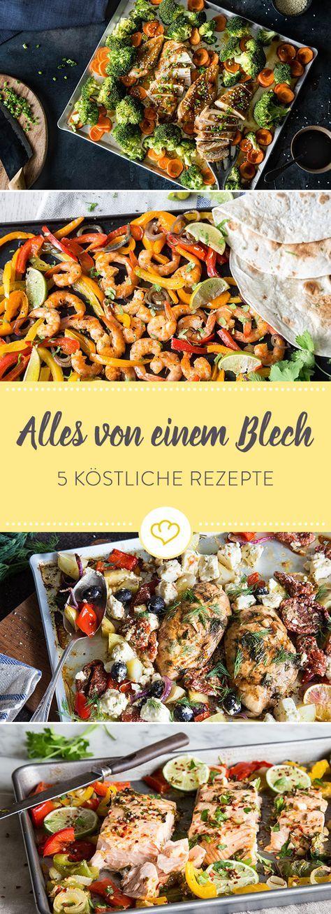 Um diese köstlichen Rezepte zu zaubern, braucht nur alles auf dein Blech tun und dann ab damit in den Ofen, kurz warten und ohne Aufwand genießen.