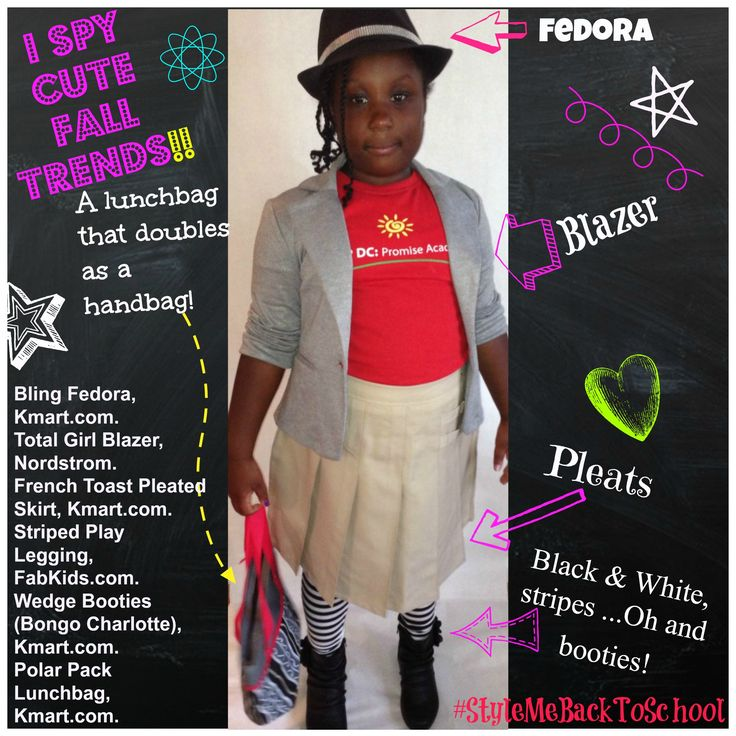 I spy some of the cutest fall trends in girls fashion! How many do you spy? A uniform can be all that and more! Featuring @Kmart Fashion @FabKids @Nordstrom #Kids #Fashion #KidsFashion #GirlsFashion #KidsTrends #KidsSwag #Swag #School #BackToSchool #KmartFashion #StyleMeBackToSchool