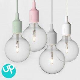 suspension ampoule vert pastel - E27 Muuto (avec ampoule halogène)
