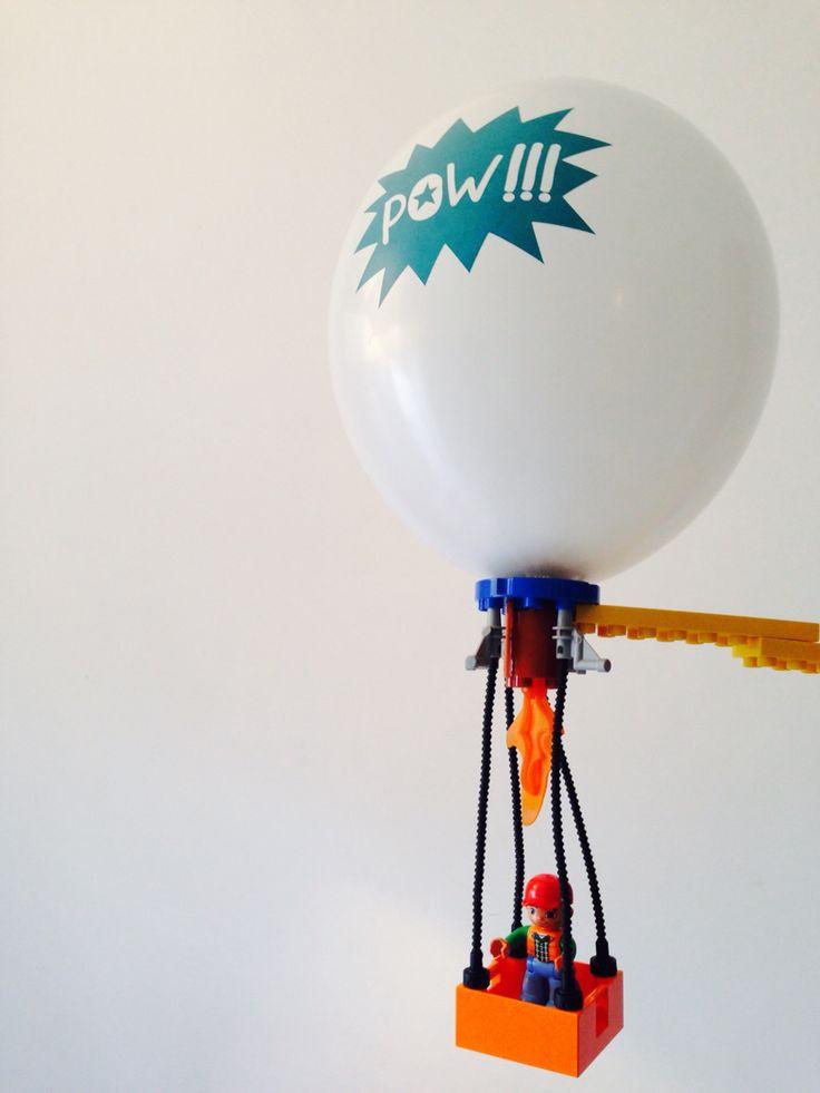 Lego hot-air balloon