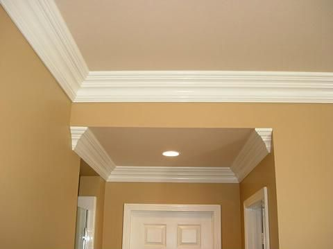 Want crown molding in kitchen dining living room for Crown molding ideas living room