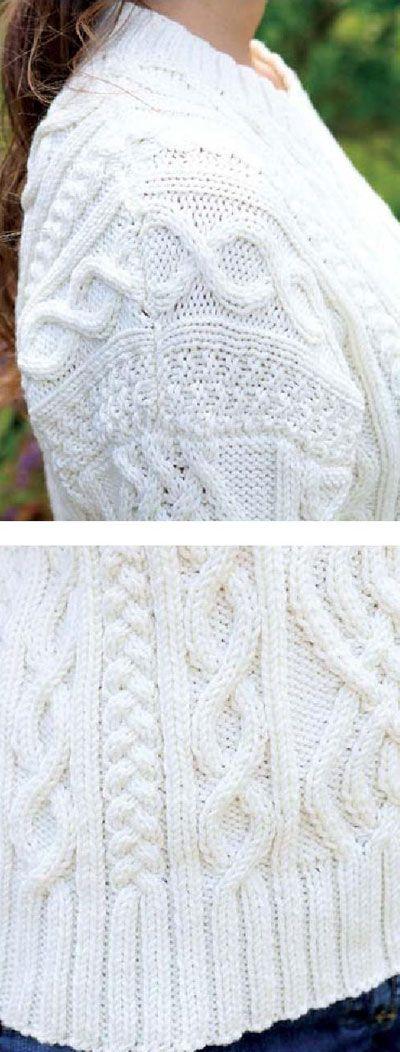 Women's Aran jumper FREE knitting pattern (2/3) (hva)