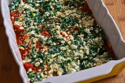 ... Recipe for Vegetarian Lasagna with Kale and Mushroom-Tomato Sauce