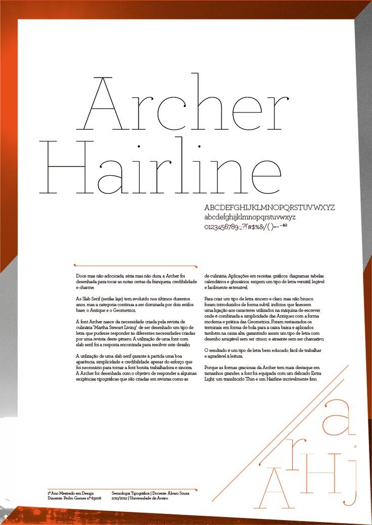 archer font