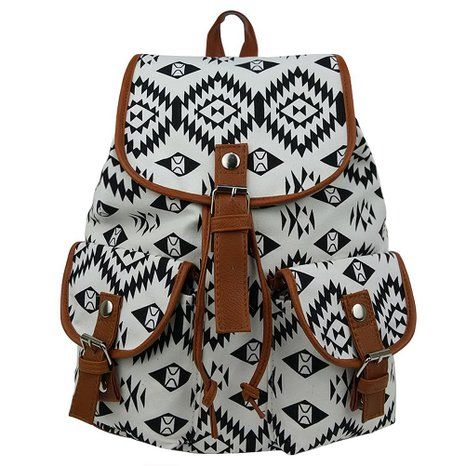 Amazon.com: Ropper Canvas Leather Casual School College Sport Travel Backpack Bag Schoolbags Satchel for Women Girls Teens (Blue): Clothing