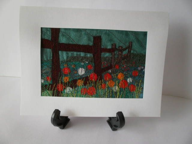 The Meadow Textile Art by wendieshouse on Etsy