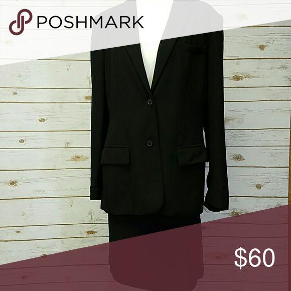 Laura Scott  lined suit Black jacket and skirt Laura Scott Jackets & Coats Blazers