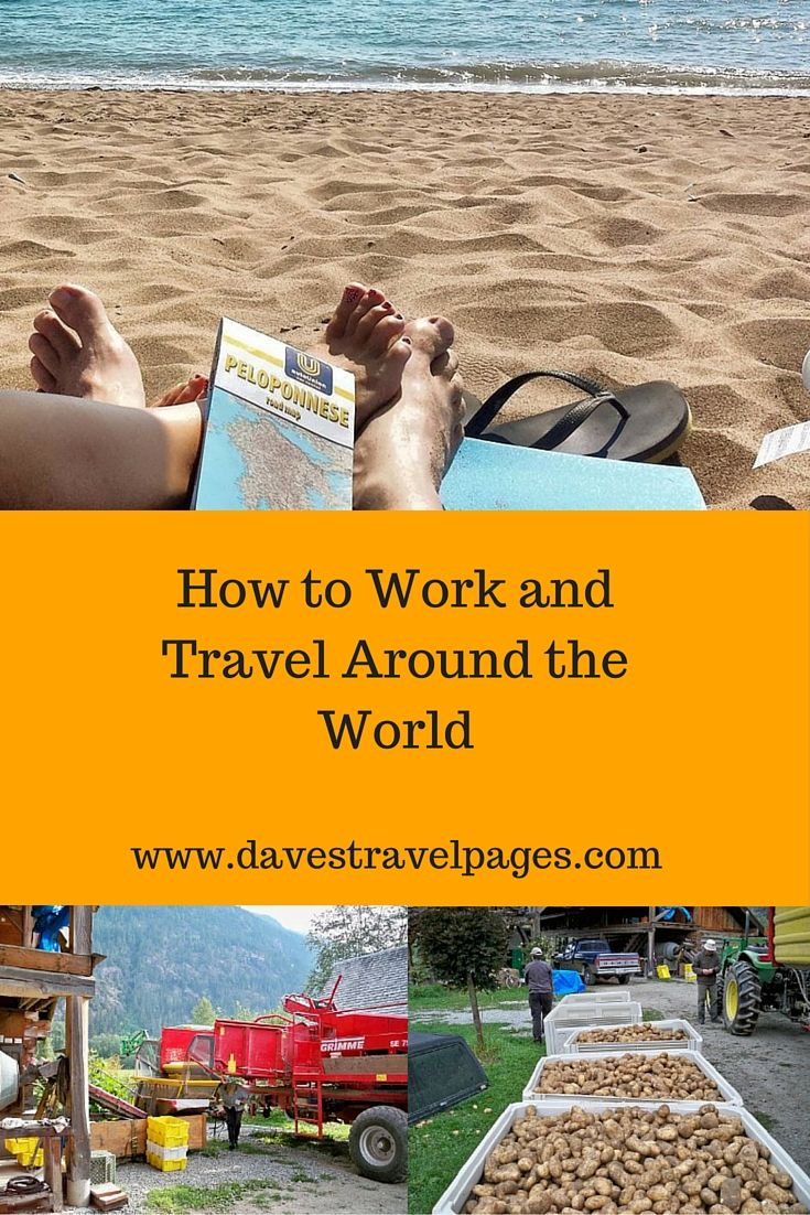 How to work and travel around the world. I have taken a variety of jobs as I have travelled, from picking grapes in Greece, to working as a nightclub bouncer. Find out how you can work and travel around the world as well !