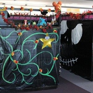 decorated cubicles for halloween - Office Halloween Decorations