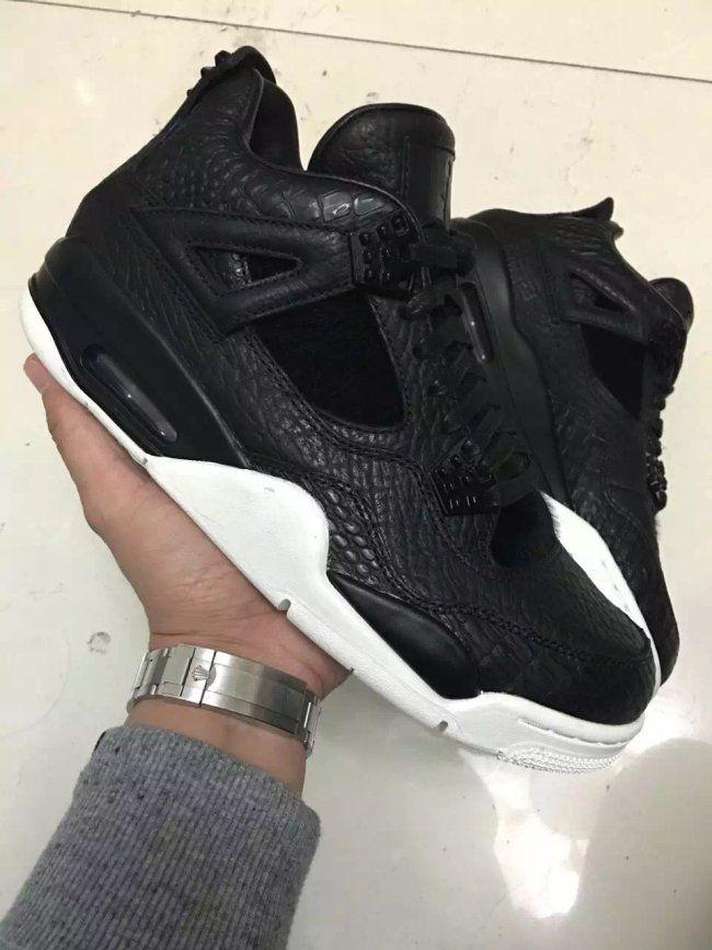 low priced 603b0 8954c Air Jordan 4 Retro Premium Black Release Info, Images - Air 23 - Air Jordan